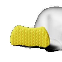 Hundebürste Groomy Bürste für Kurzhaar Hunde gelb